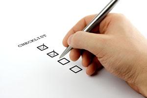 Image of check list